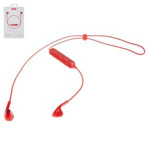 Гарнитура XO BS8, беспроводная, красная, micro USB тип B