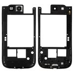 Housing Middle Part compatible with Samsung I9305 Galaxy S3, (black)