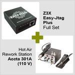 Z3X Easy-Jtag Plus kit completo + Estación de soldadura de aire caliente Accta 301A (110 V)