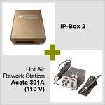 IP-Box 2 + Estación de soldadura de aire caliente Accta 301 (110V)
