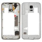 Средняя часть корпуса Samsung G900H Galaxy S5, серебристая