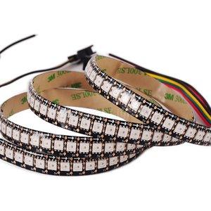 Светодиодная лента, IP65, RGB, SMD5050, WS2813, с управлением, черная, 5 В, 144 д/м, 1 м