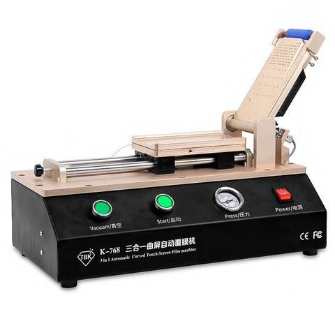 Ламінатор плівки OCA, поляризаційної  TBK 768 для смартфонів з вбудованим вакуумним насосом