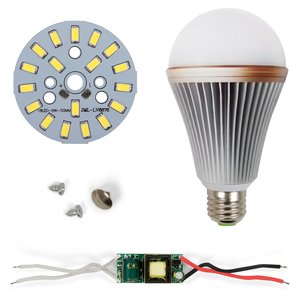 Комплект для сборки светодиодной лампы SQ-Q24 5730 9 Вт (холодный белый, E27), диммируемый